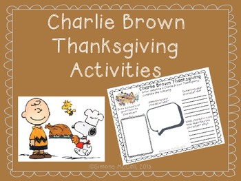 Charlie Brown Thanksgiving Activities