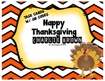 Charlie Brown Thanksgiving Quiz with QR Codes