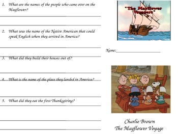 Charlie Brown Thanksgiving Video Chart