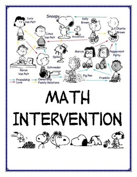 Peanuts Gang math intervention cover