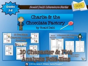 Charlie and the Chocloate Factory Roald Dahl Character & P
