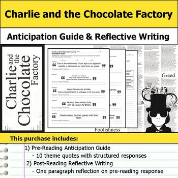 Charlie and the Chocolate Factory - Anticipation Guide & R