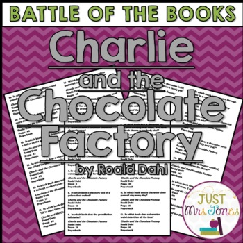 Charlie and the Chocolate Factory Battle of the Books Triv