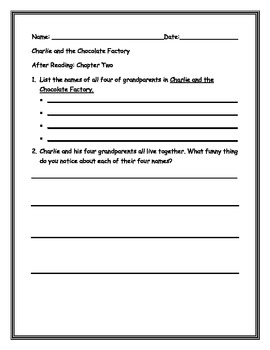 Charlie and the Chocolate Factory-Chapter 2: By: Ms. Bisker