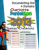 Charlotte Danielson 2013 Teacher Checklists: Documenting T