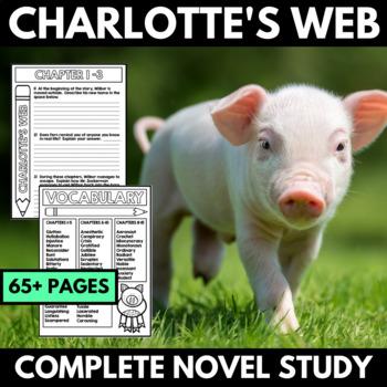Charlotte's Web Novel Study Unit - Book Study with Questio