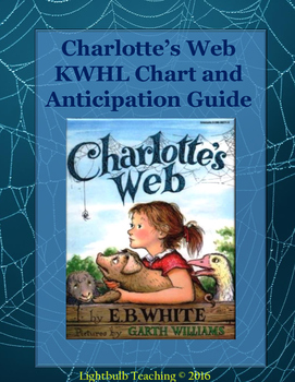 Charlotte's Web Anticipation Guide and KWHL Chart