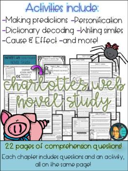 Charlotte's Web Novel Study- Text Dependent Comprehension