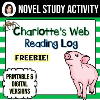 Charlotte's Web *No Prep* Reading Log FREEBIE!