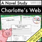 Charlotte's Web Novel Study Unit: comprehension, vocab, ac
