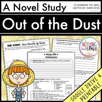 Out of the Dust Novel Study Unit: comprehension, vocabular
