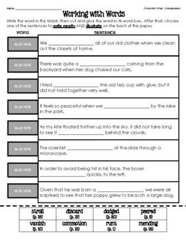 Charlotte's Web (Vocabulary Matching)