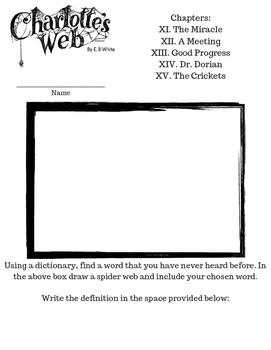 Charlotte's web worksheets