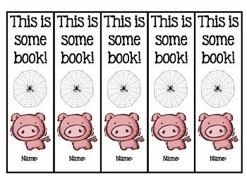 Charlotte's Web Bookmarks