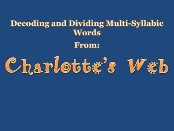Charlotte's Web Phonics Presentation