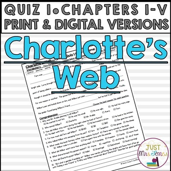 Charlotte's Web Quiz 1 (Ch. I-V)