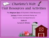 Charlotte's Web Unit Resources Novel Study Common Core