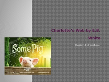 Charlotte's Web Vocabulary Chapters 13-15