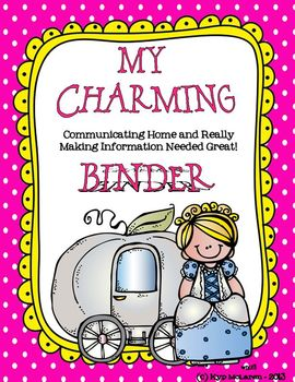 """""""Charming"""" Organizational Binder with a Cinderella twist"""
