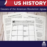 Causes of the American Revolution Jigsaw Reading and Handout
