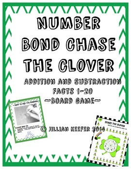Chase the Clover Number Bond Board Game