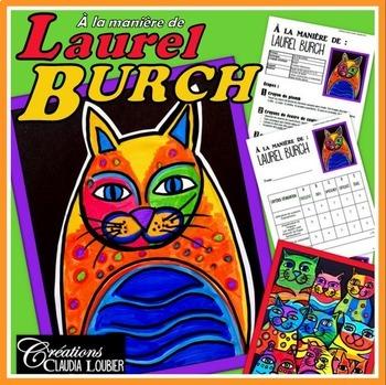 Arts plastiques: Chats à la manière de Laurel Burch plan d