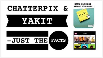ChatterPix & Yakit: Just the Facts