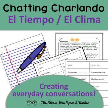 Communicative, Manipulative Activity for Spanish, weather,
