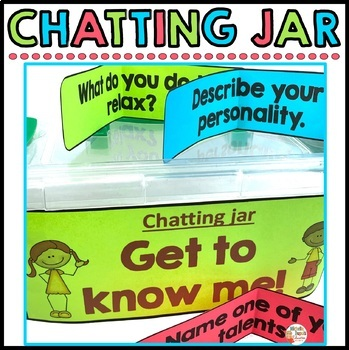 Chatting Jar  (Great way to encourage and develop verbal c