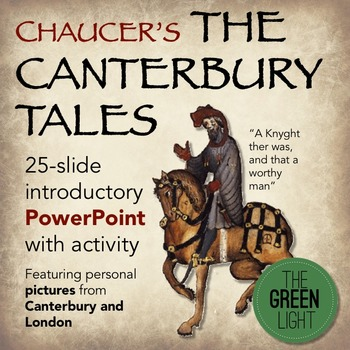 Chaucer's The Canterbury Tales Introductory PPT and Activity