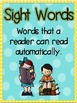 Check It Out! A Sight Word Student Self Monitoring System!