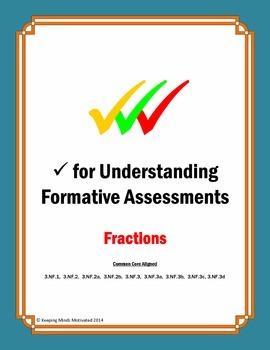 Check for Understanding Fraction Assessments