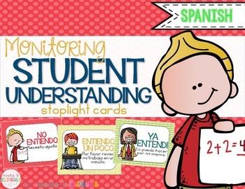 Check for Understanding Stoplight Cards {Spanish}
