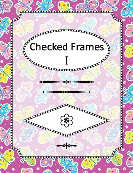 Checked Frames Set 1, Papers Included, Commercial Use Allowed
