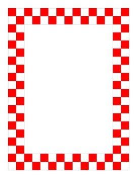 Checker 1 Inch Border for Microsoft Word Documents