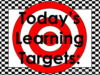 Checkerboard Daily Learning Targets Bulletin Board Set