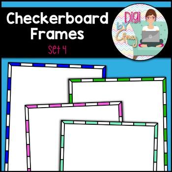 Checkerboard Frames clipart - Set 4