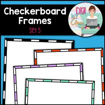 Checkerboard Frames clipart - Set 5 (square)