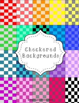Checkered Digital Paper {20 papers 8.5x11}