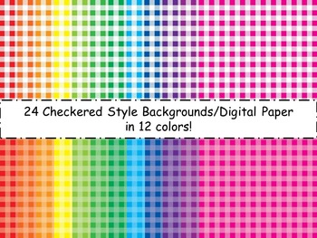 Checkered Backgrounds/Digital Paper