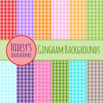 Checkered Backgrounds or Gingham Digital Paper Clip Art Co