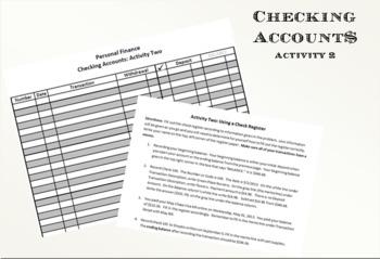 Checking Accounts Activity 2