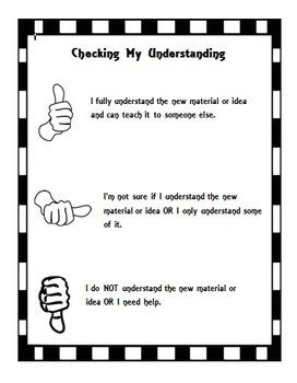 Checking My Understanding