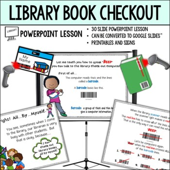 Checking Out Library Books...a Powerpoint Lesson