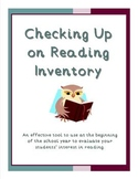 Checking Up on Reading Inventory