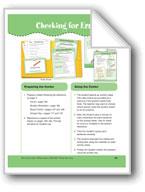 Checking for Errors (File Folder Center)