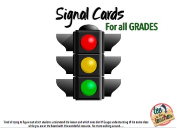 Checking for Understanding Using Signal Cards
