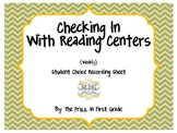 Checking in with Reading Centers