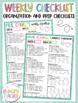 Checklists for Teachers and Teacher Lesson Planner Printab