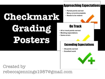 Checkmark Grading Posters